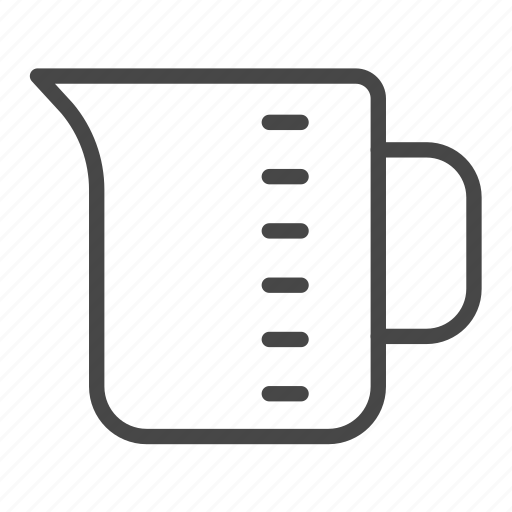 bakery, cup, equipment, measuring cup, tool icon