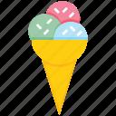 bakery, cone, cream, dessert, eating, ice cream, sweets