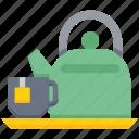 bakery, cup, kettle, tea cup, tea pot, tea serving, utensil icon