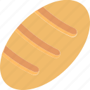 bakery, baking, bread, eating, food, loaf icon