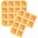 waffle, breakfast, cooking, dessert, food, sweet, wafer icon