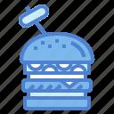 food, hamburger, junk, sandwich