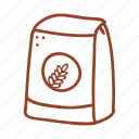 bakery, cooking, flour, food, grain, ingredient, wheat icon