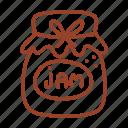 cook, dessert, jam, jar icon, kitchen, sweet, tasty icon