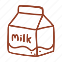 bakery, cooking, drink, food, ingredient, milk, restaurant icon