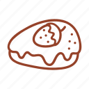 bakery, cake, dessert, food, strawberry, sweet, tasty icon