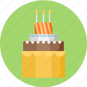 birthday, birthday cake, cake, pie icon