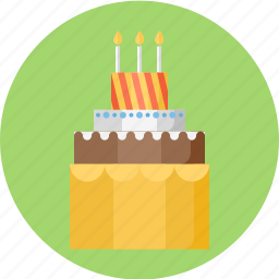 birthday, birthday cake, cake, pie icon