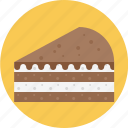 cake, chocolate, chocolate pie, layered, pie icon