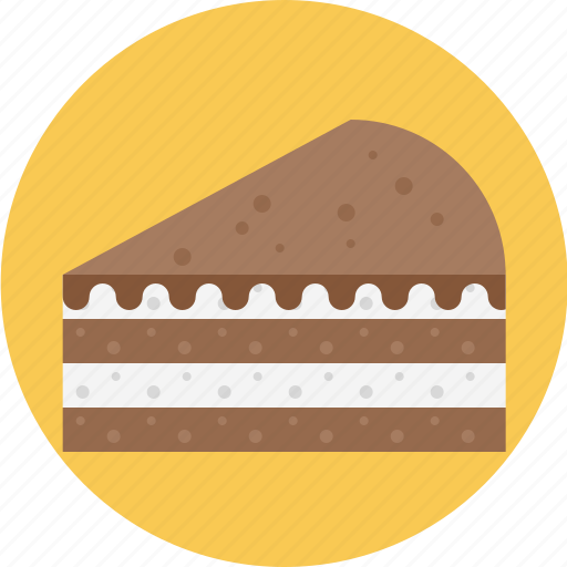 cake, chocolate, chocolate pie, layered, pie icon