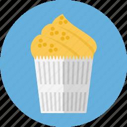bakery, cupcake, pie icon