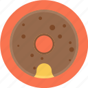 chocolate donut, chocolate doughnut, donut, doughnut icon