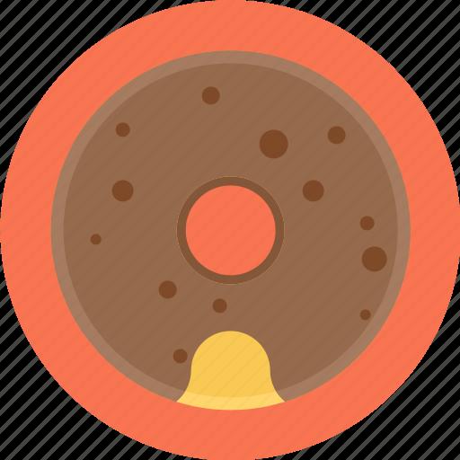 chocolate donut, chocolate doughnut, donut, doughnut icon