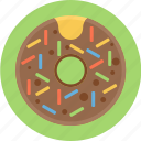 donut, sprinkles, sweet icon