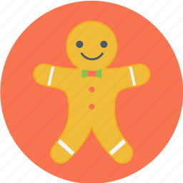 gingerbread, gingerbread cookie, gingerbread man, man icon