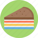 layer cake, layered, layered pie, pie icon