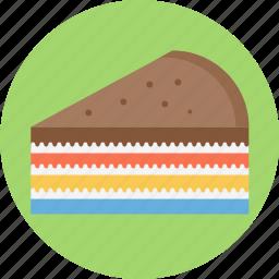 layer cake, layered, layered pie, pie icon