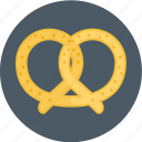bakery, cookie, pretzel icon