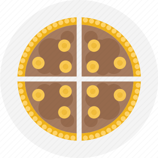 chocolate, dessert, pie, slice, slice of pie, sliced pie icon
