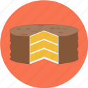 baker, bakery, cake, dessert, pie, sliced, sweets icon
