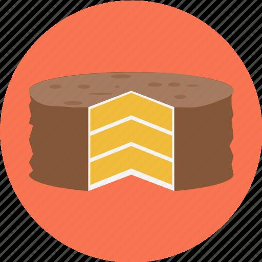 baker, bakery, cake, dessert, pie, sliced, sweets icon