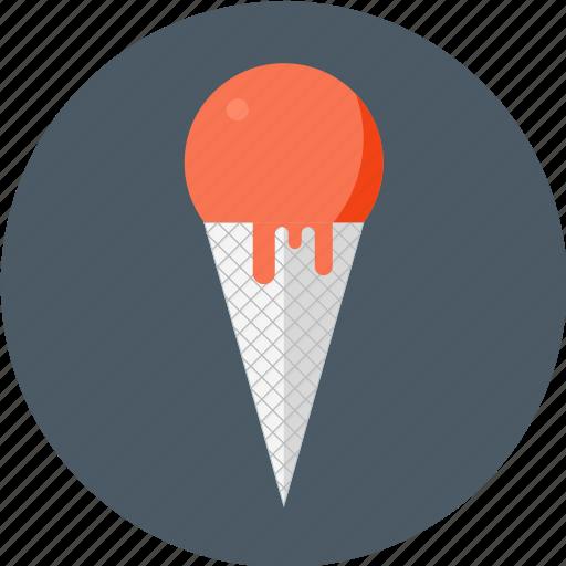 cone, cream, gelato, ice, ice cream, soft, soft ice icon