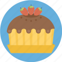 pie, strawberry, strawberry pie, strawerry cake, sweets icon