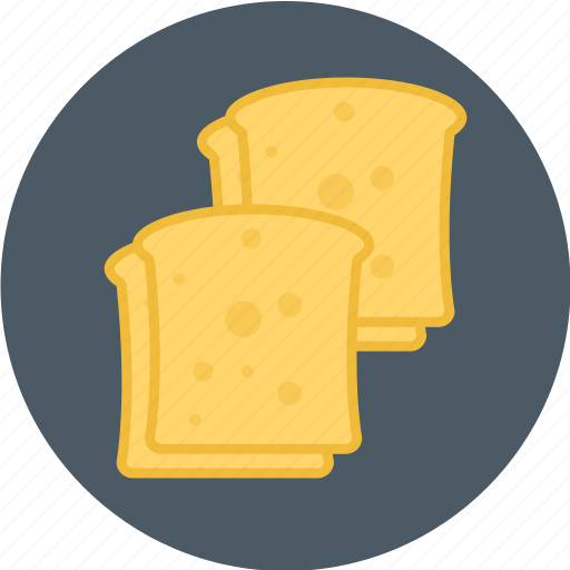 bread, toasted, toasted bread icon