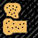 bread, loaf, sliced, toast, wheat