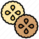 appetizer, biscuits, cookies, crackers, dessert icon