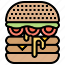 beef, burger, cheese, fastfood, tasty icon