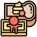 butter, cake, confectionery, delicious, dessert icon