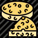cheddar, cheese, dairy, piece, wheel