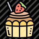 confectionery, cupcake, decorated, dessert, muffin icon