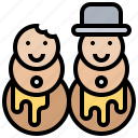 celebration, christmas, cookies, gingerbread, snowman icon