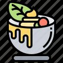cream, cup, custard, dessert, pudding icon