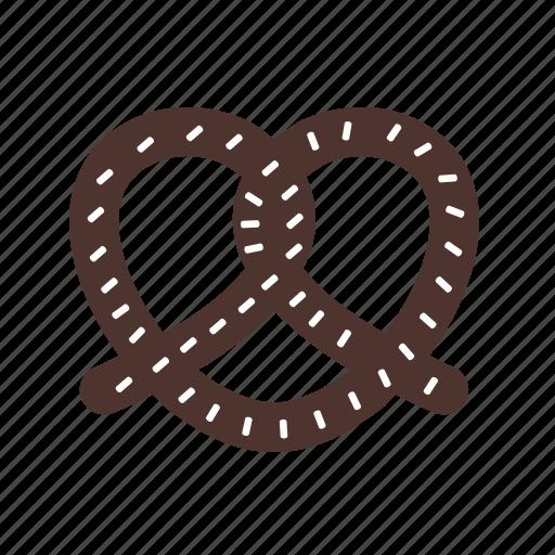 crunchy, food, pretzel, salt, salty, snack, tasty icon