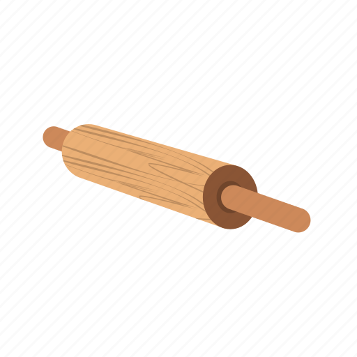 cooking, dough, kitchen, pin, rolling, wood, wooden icon