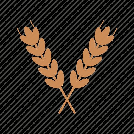 crop, field, food, golden, nature, summer, wheat icon