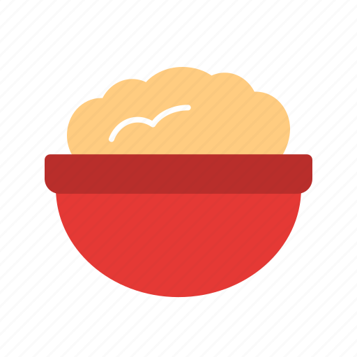 bowl, flour, food, ingredient, pot, powder, wheat icon