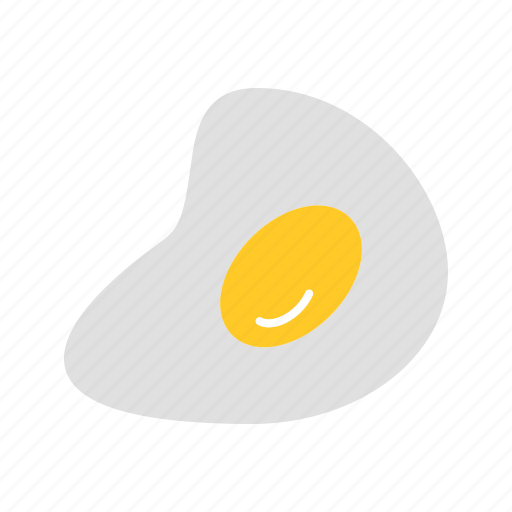 breakfast, cook, eat, egg white, egg yolk, fried egg, fry icon