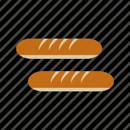 bread, food, french, fresh, healthy, loaf, wheat icon