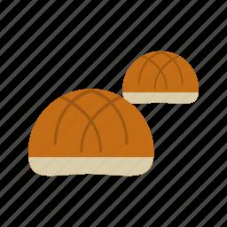 bread, bun, food, hamburger, round, tasty, yeast icon