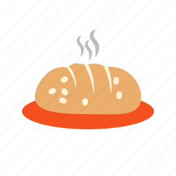 bread, food, grilled, hot, ketchup, mustard, sausage icon
