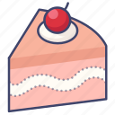 cake, cherry, slice icon