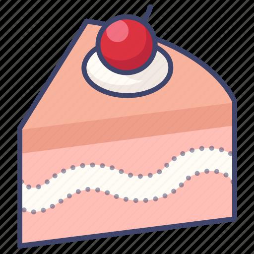 cake, cherry, slice icon