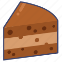 brownie, cake, dessert icon