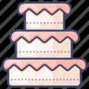 cake, celebrate, dessert, wedding icon