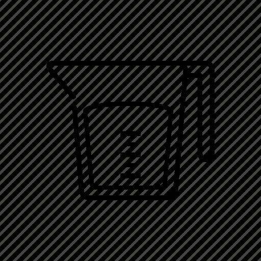 jar, jugg, kitchen utensils, measuring tool, pitcher icon