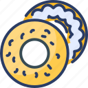 bagel, baked, bread, cereal, donuts, salmon, sesame icon